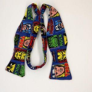 Comic Super Hero Flannel Neck Bow Tie